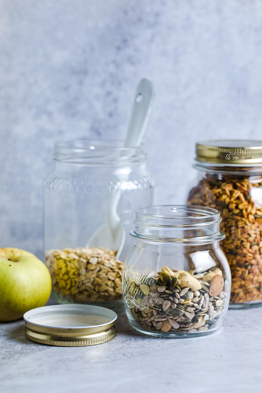 Granola senza zucchero- ingredienti