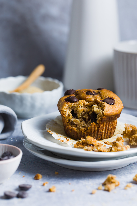 Muffin ai cachi e cioccolato