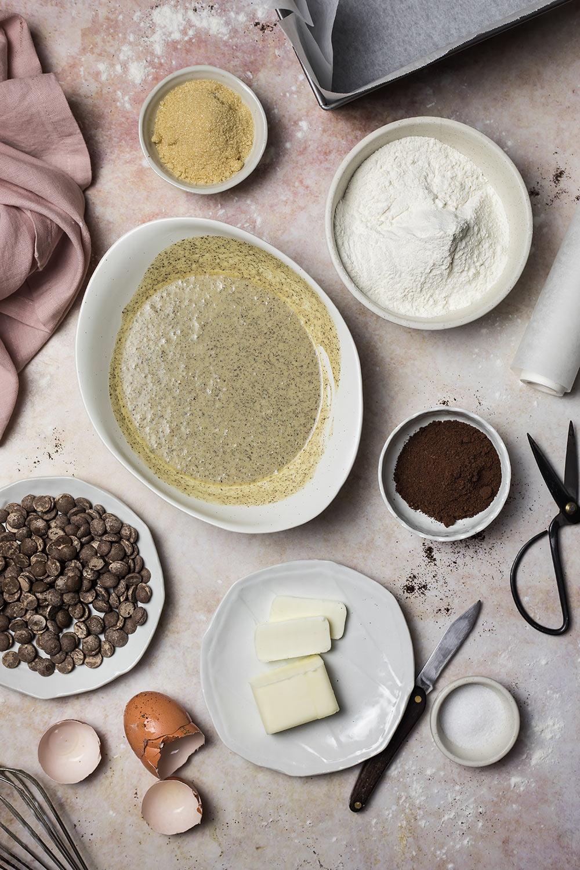 Plumcake al caffè, cioccolato e yogurt