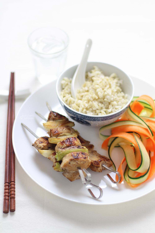 Spiedini di pollo alle cinque spezie