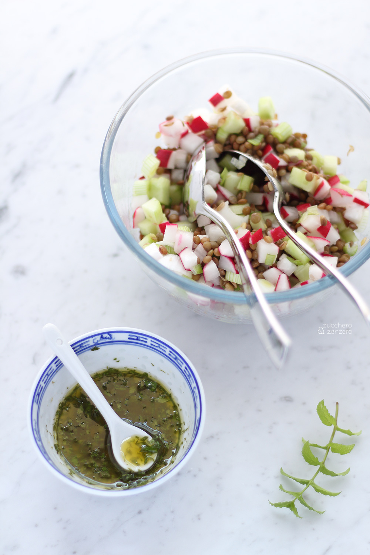 insalata lenticchie ravanelli